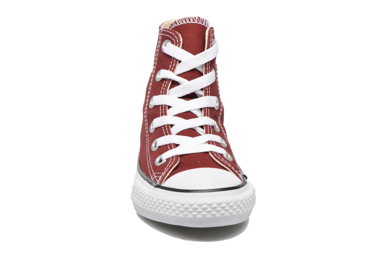 Baskets Converse Chuck Taylor All Star Hi Rouge vue portées chaussures