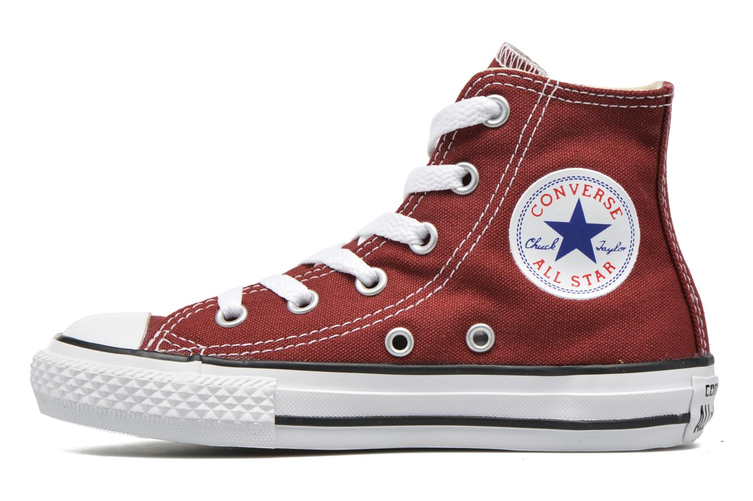 Baskets Converse Chuck Taylor All Star Hi Rouge vue face