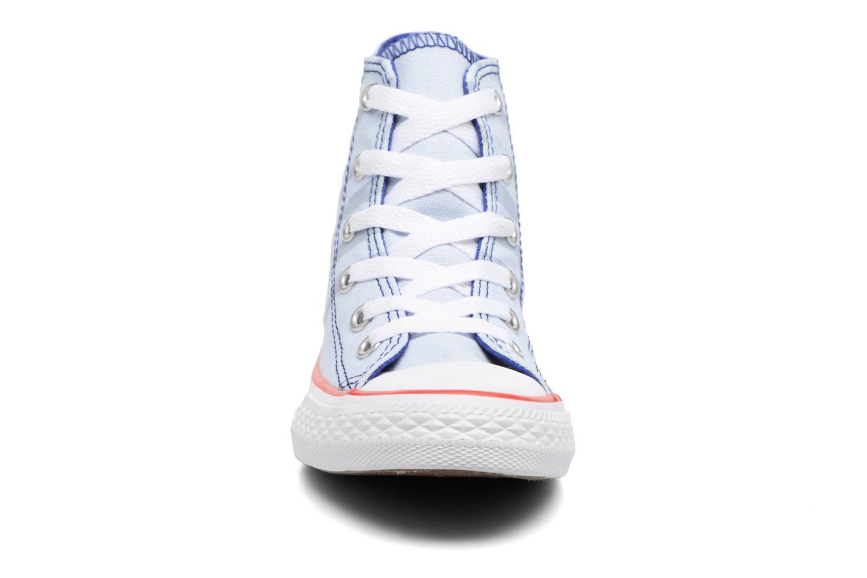 Baskets Converse Chuck Taylor All Star Hi Bleu vue portées chaussures