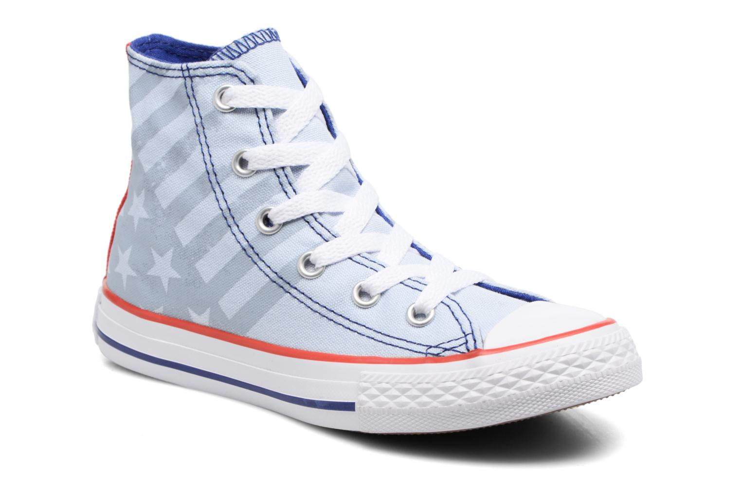 Baskets Converse Chuck Taylor All Star Hi Bleu vue détail/paire