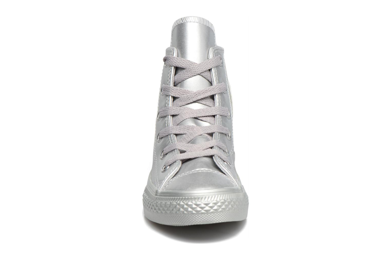 Baskets Converse Chuck Taylor All Star Hi Argent vue portées chaussures