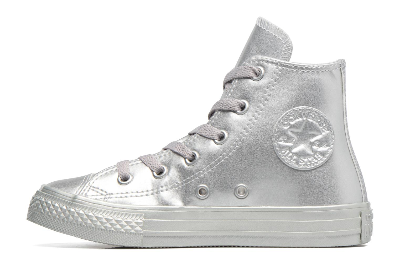 Baskets Converse Chuck Taylor All Star Hi Argent vue face