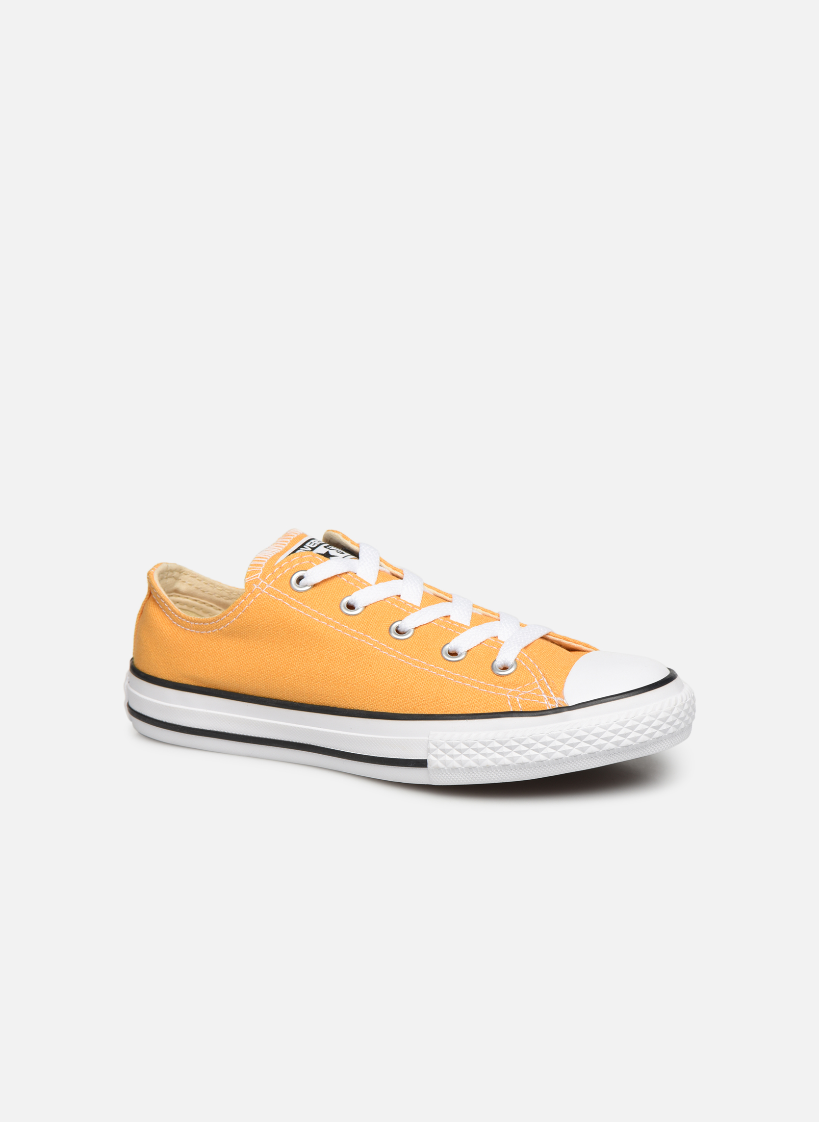 Baskets Converse Chuck Taylor All Star Ox Jaune vue détail/paire