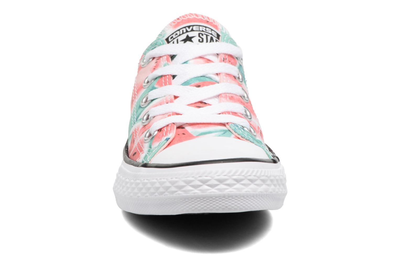Chuck Taylor All Star Ox Vapor Pink/Green Glow/White