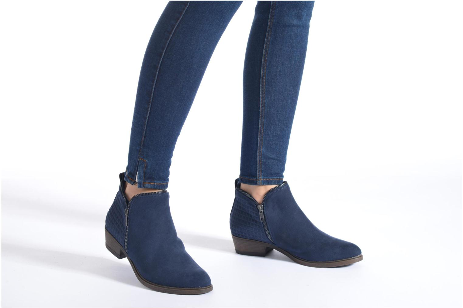 Ankle boots I Love Shoes Tharte Blue view from underneath / model view