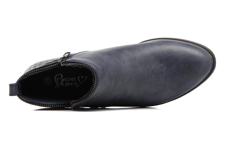 Stiefeletten & Boots I Love Shoes Tharte blau ansicht von links