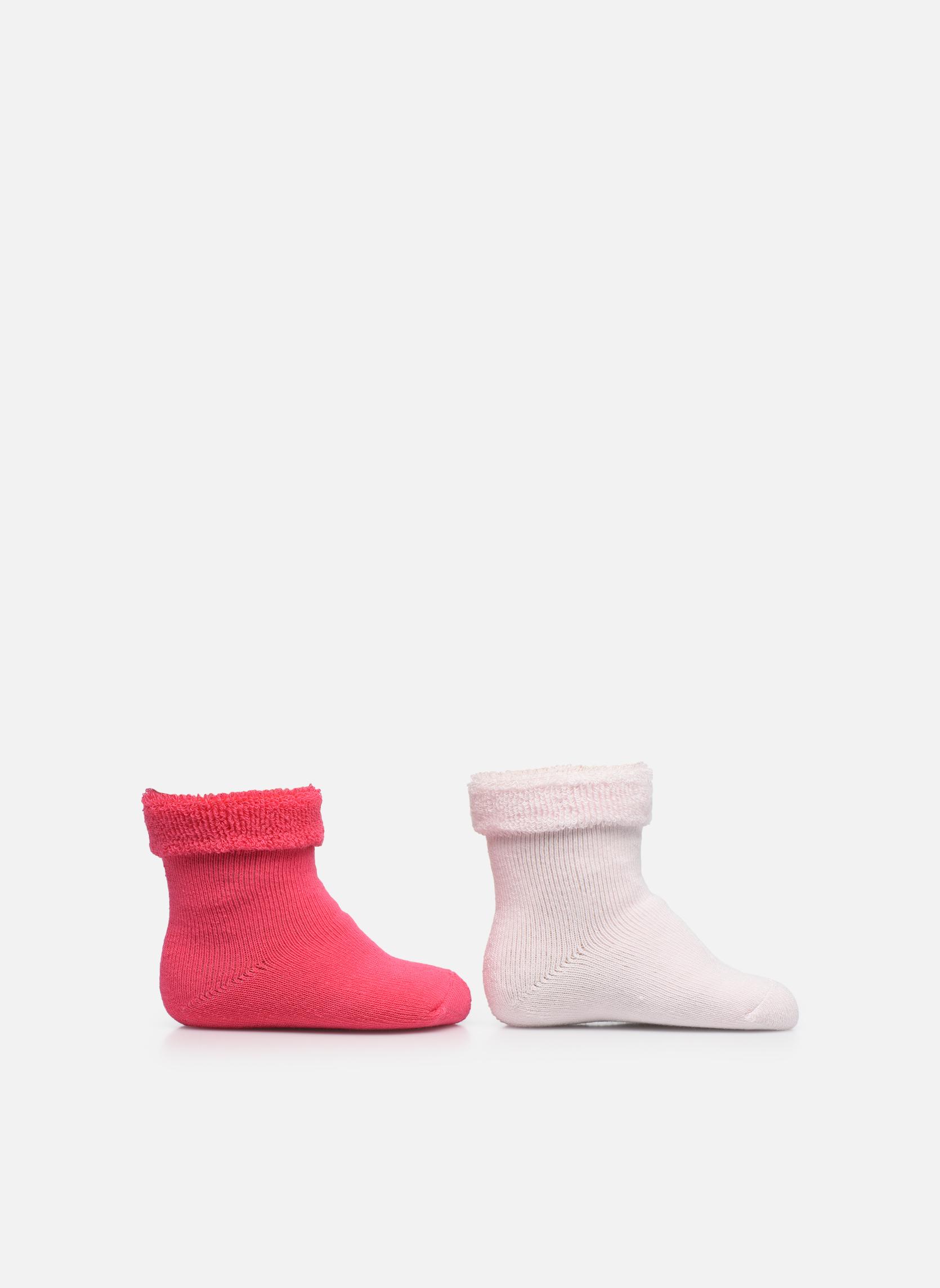 Socks Baby Pack of 2 rose pale/framboise