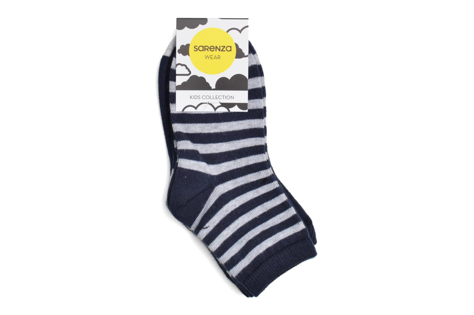 Chaussettes Baby Pack de 2 MARINE RAY GRIS CHINE / UNIE GRIS CHINE T/P MARINE