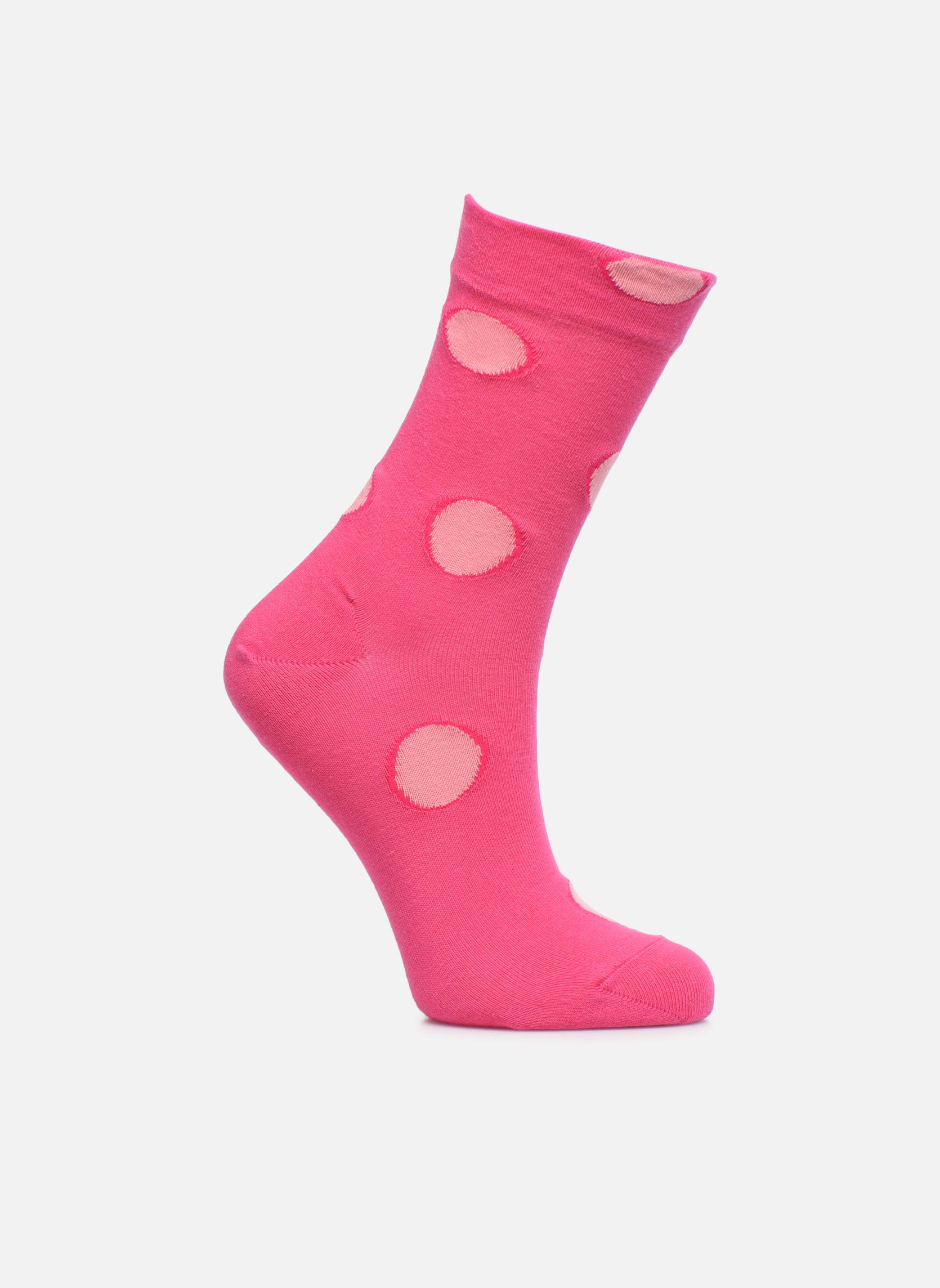 Medias y Calcetines Falke Socquettes Enfant Coton Spotted SO Rosa vista de detalle / par