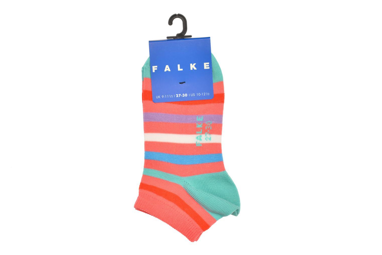 Chaussettes et collants Falke Socquettes Enfant Coton New stripe SN Rose vue portées chaussures