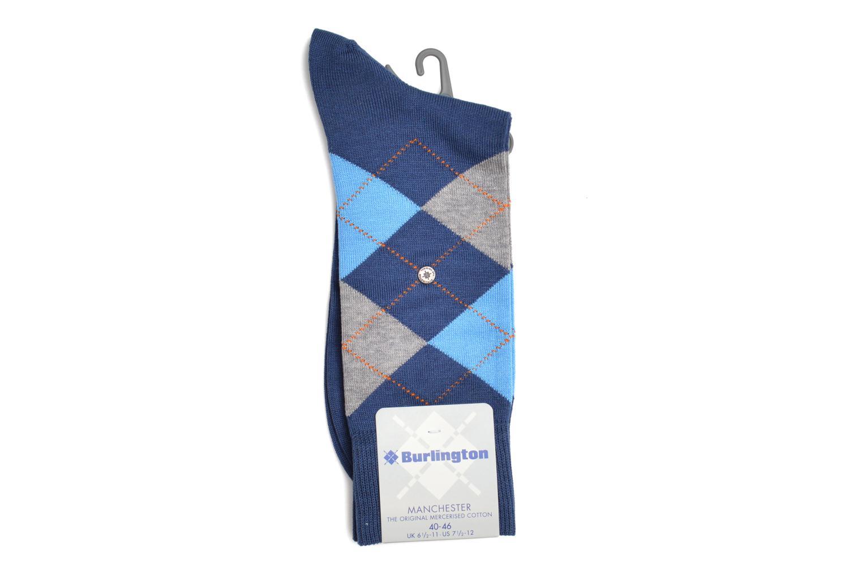 Chaussettes et collants Burlington Chaussettes MANCHESTER SO Bleu vue derrière