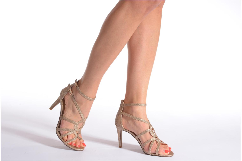 Sandales et nu-pieds Minelli F93 602/GLI Or et bronze vue bas / vue portée sac