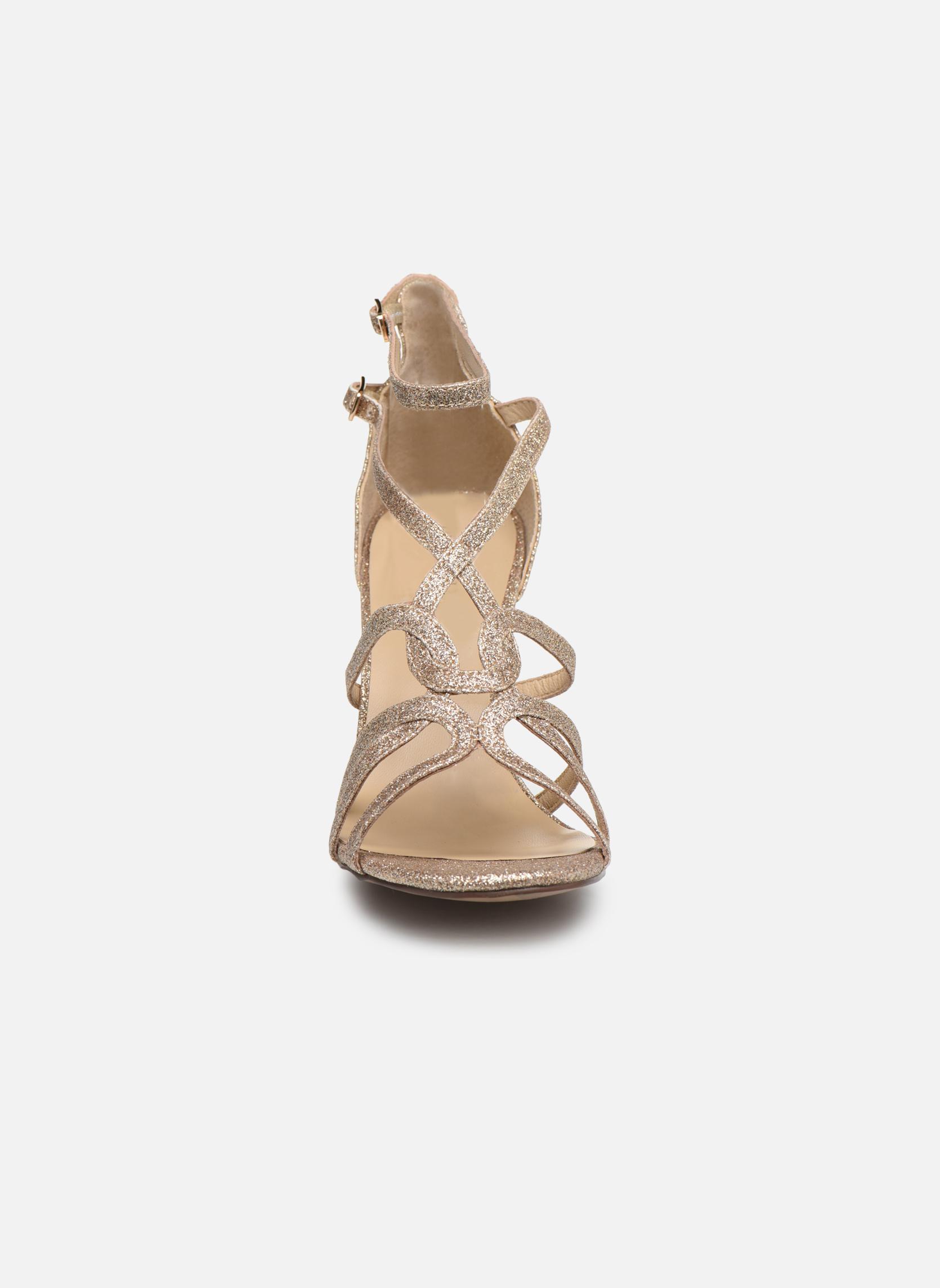 Sandales et nu-pieds Minelli F93 602/GLI Or et bronze vue portées chaussures