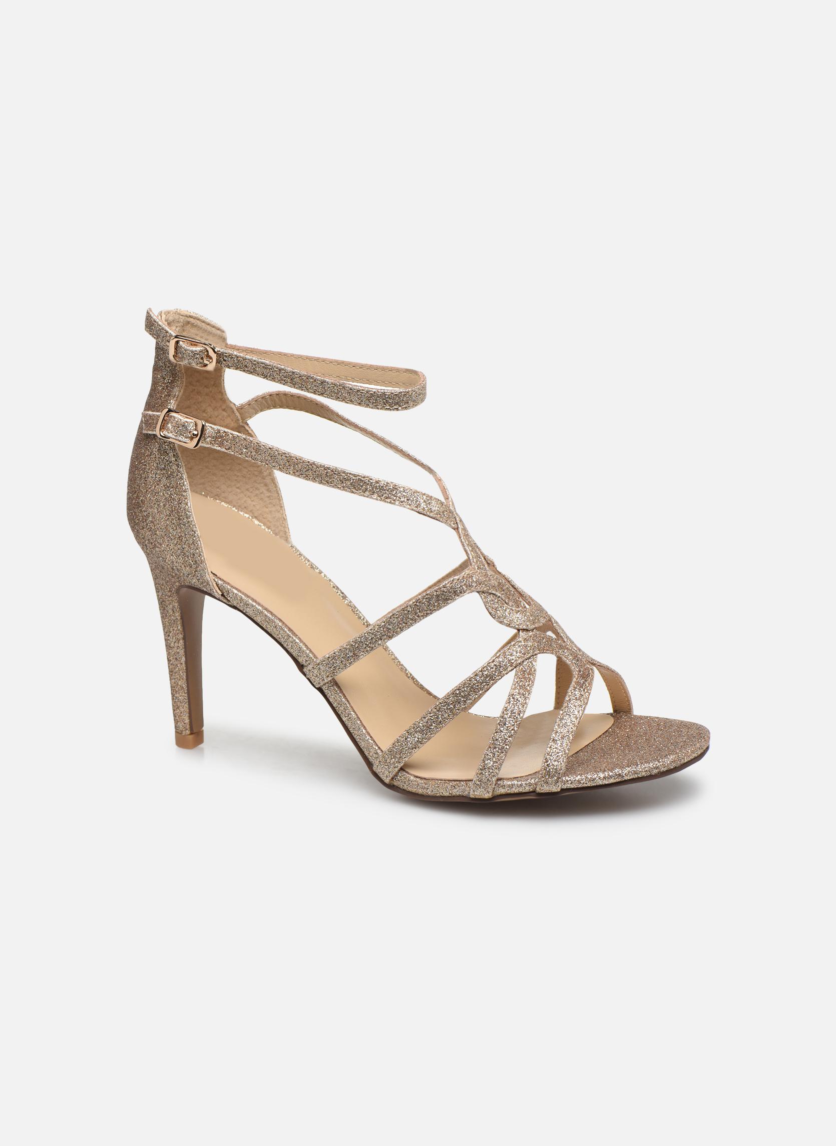 Sandales et nu-pieds Minelli F93 602/GLI Or et bronze vue détail/paire
