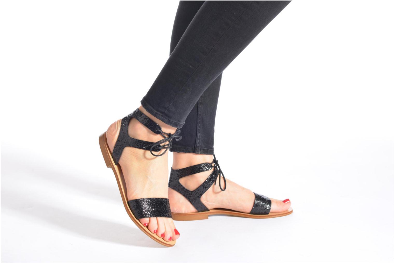 Sandales et nu-pieds Minelli F63 839/GLI Noir vue bas / vue portée sac