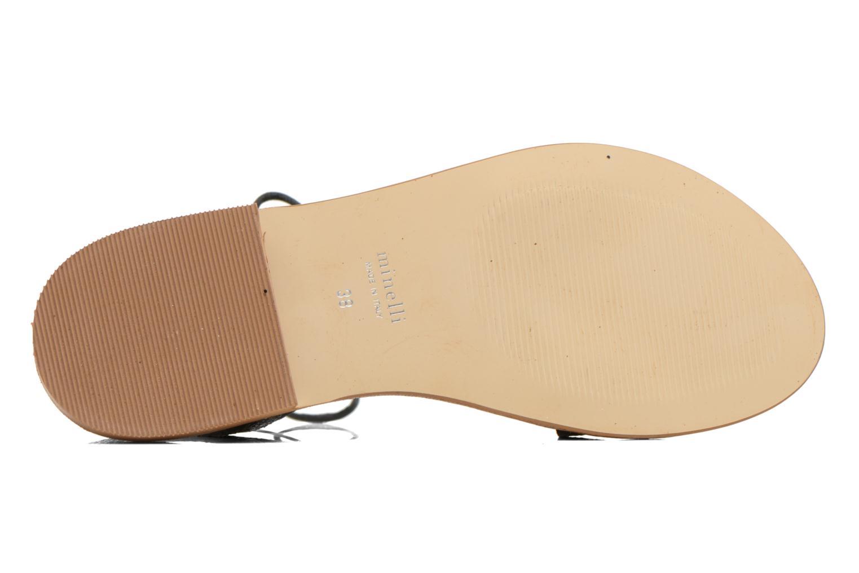 Sandales et nu-pieds Minelli F63 839/GLI Noir vue haut