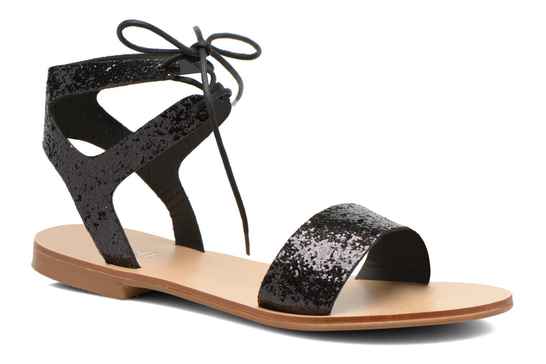 Sandales et nu-pieds Minelli F63 839/GLI Noir vue détail/paire