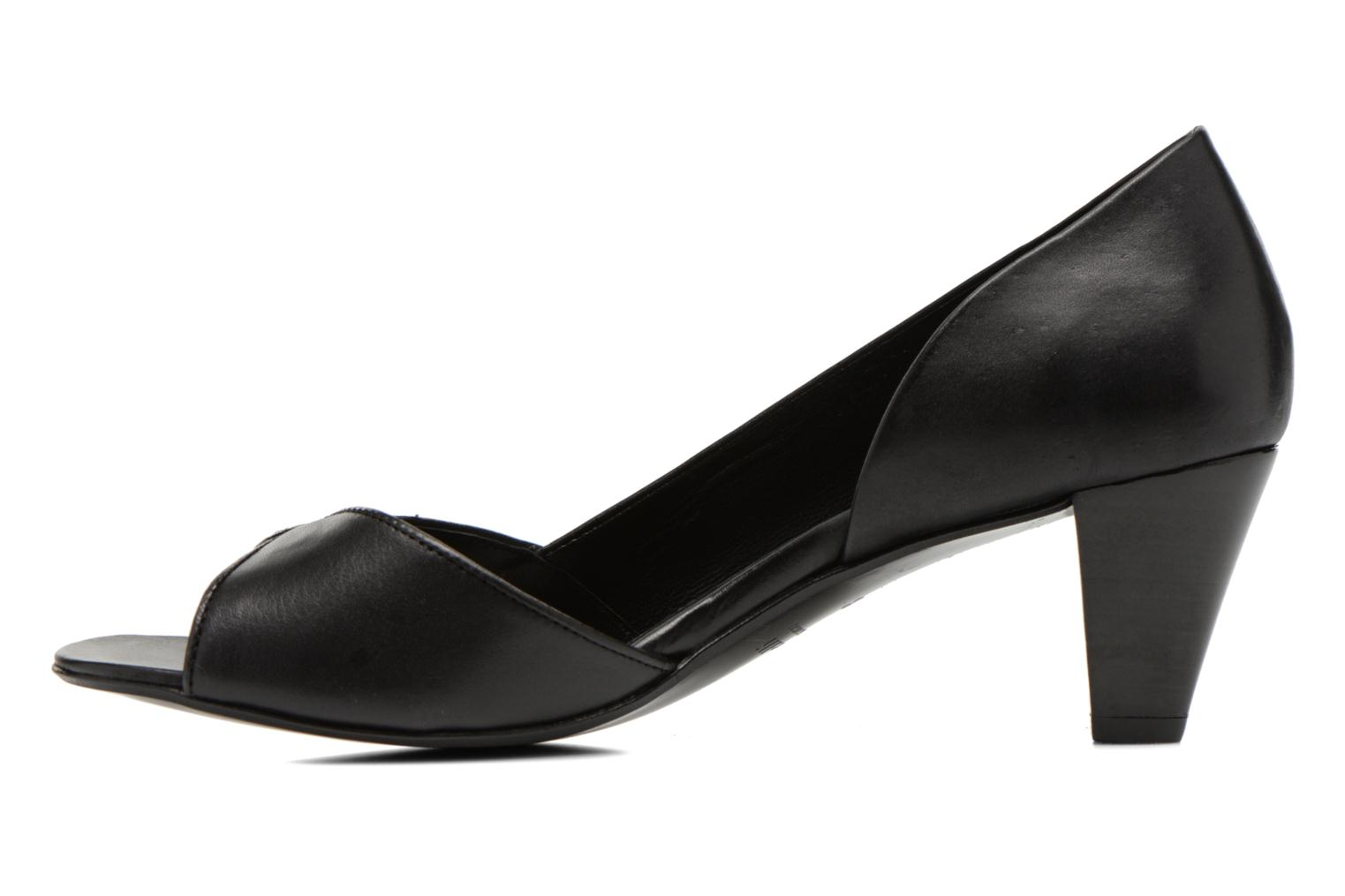 High heels Minelli F93 614 Black front view