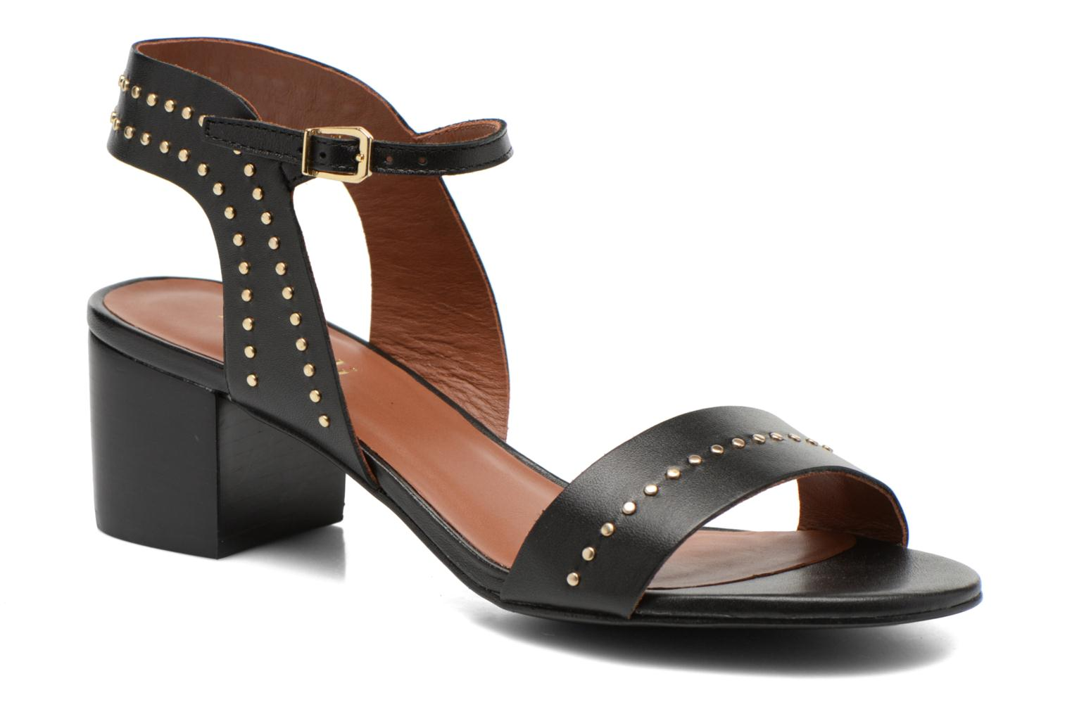 Sandals Minelli F93 840 Black detailed view/ Pair view