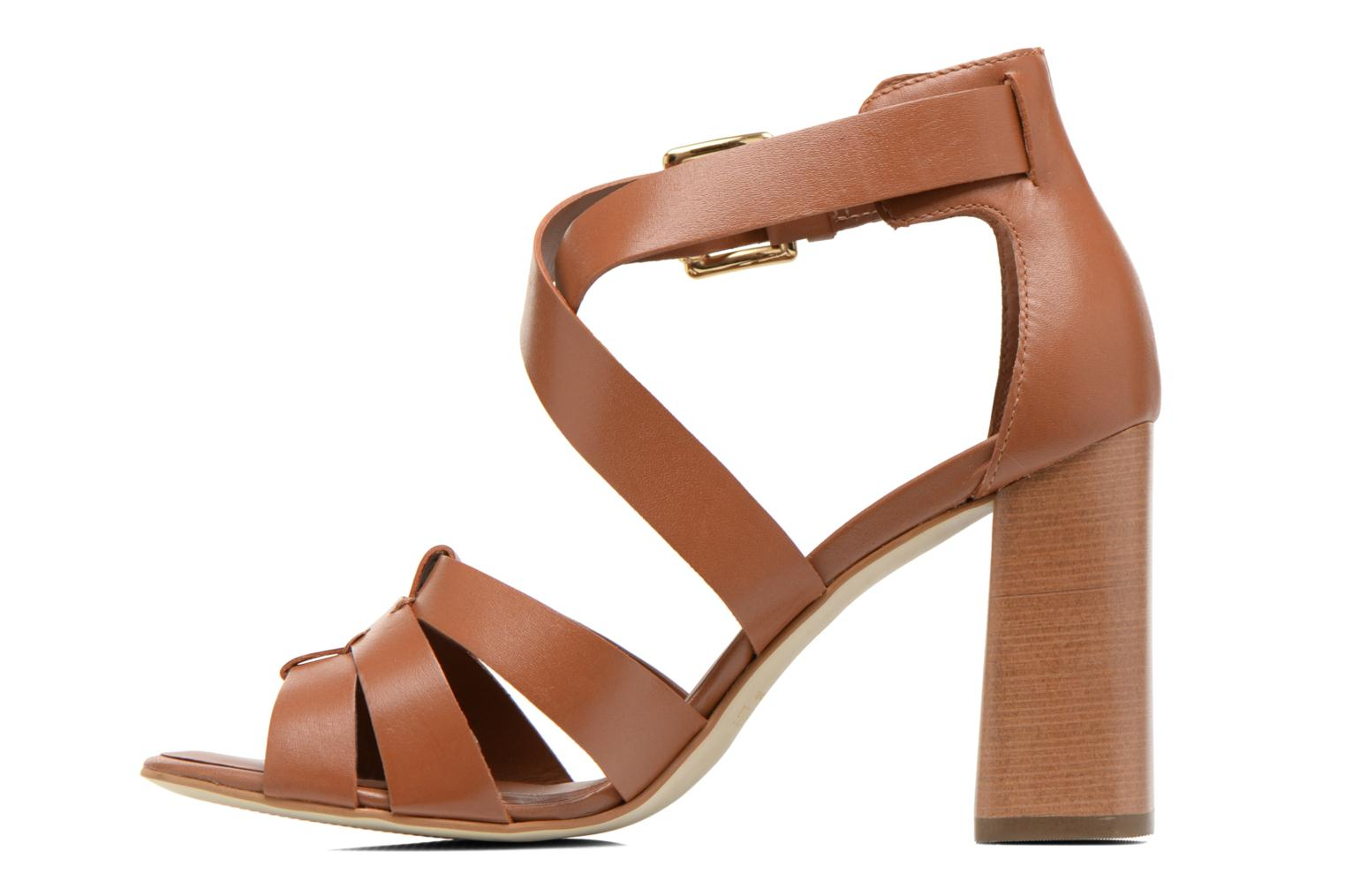 Sandals Minelli F93 800 Brown front view