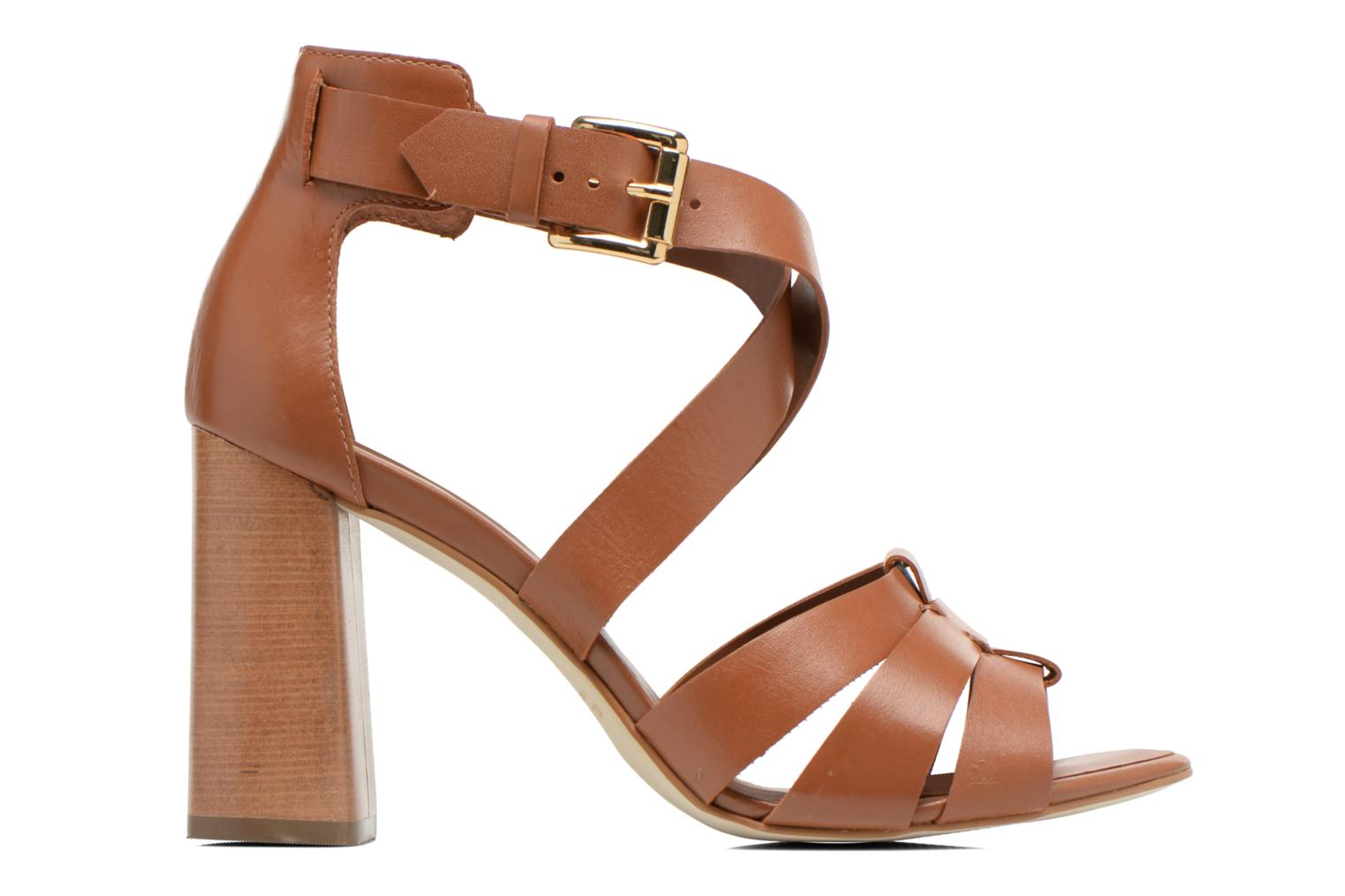 Sandals Minelli F93 800 Brown back view