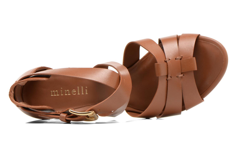 Sandales et nu-pieds Minelli F93 800 Marron vue gauche