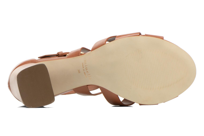Sandales et nu-pieds Minelli F93 800 Marron vue haut