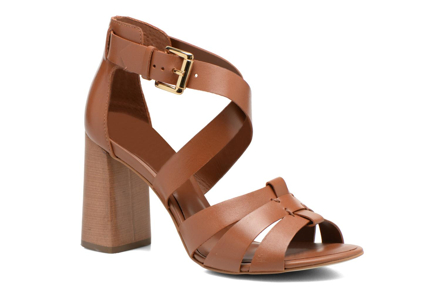 Sandals Minelli F93 800 Brown detailed view/ Pair view