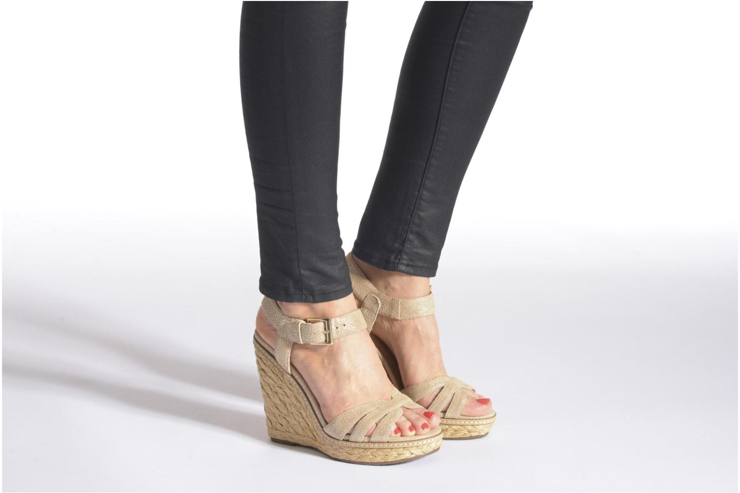 Sandals Minelli F93 819/MET Beige view from underneath / model view