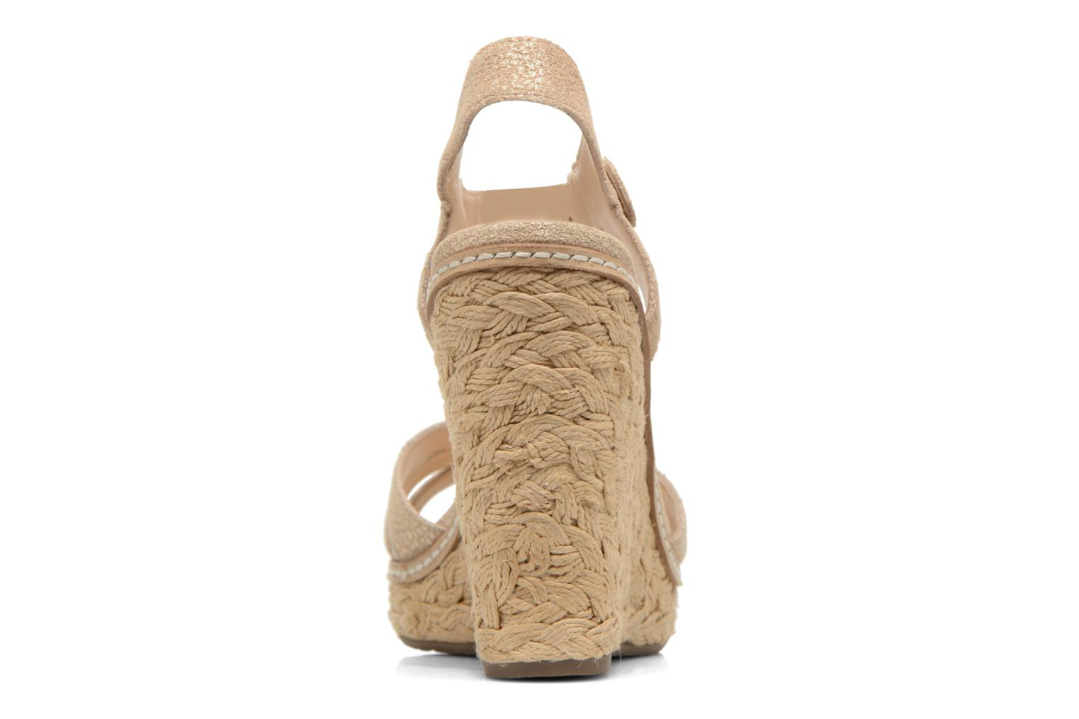 Sandals Minelli F93 819/MET Beige view from the right