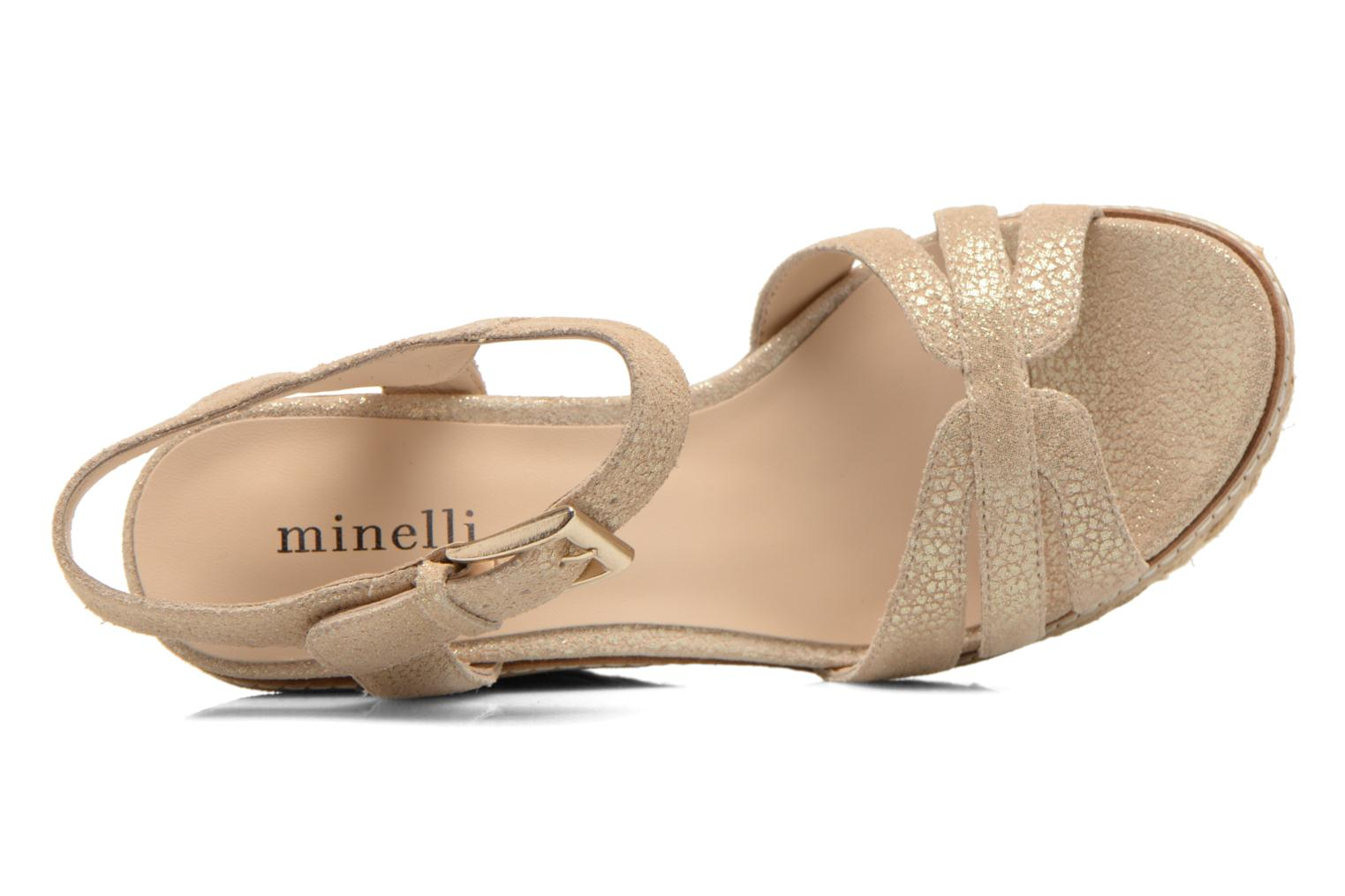 Sandals Minelli F93 819/MET Beige view from the left