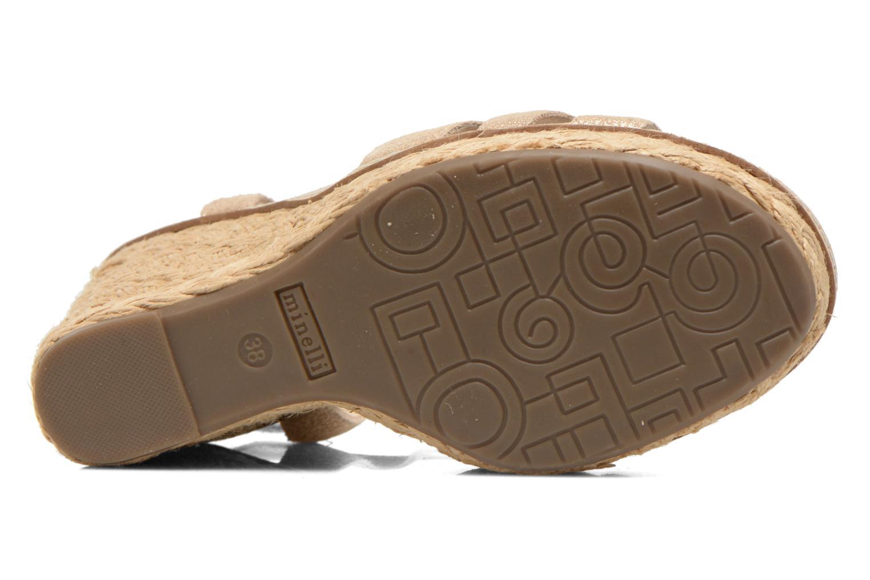 Sandales et nu-pieds Minelli F93 819/MET Beige vue haut