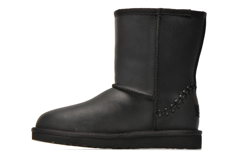 Botas UGG K Classic Short Deco Negro vista de frente