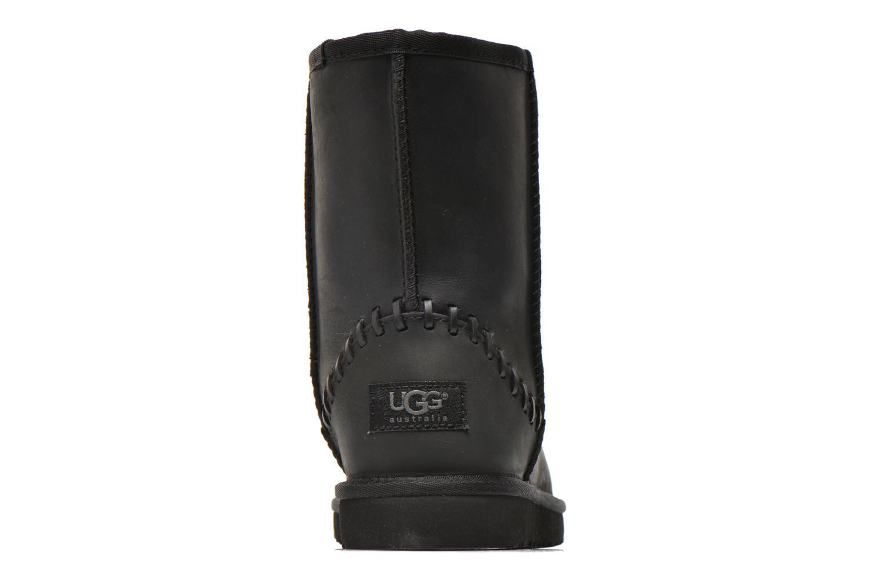Botas UGG K Classic Short Deco Negro vista lateral derecha