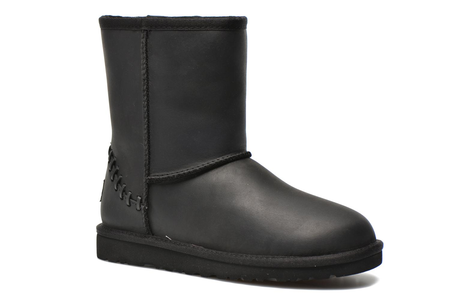 Boots & wellies UGG K Classic Short Deco Black detailed view/ Pair view