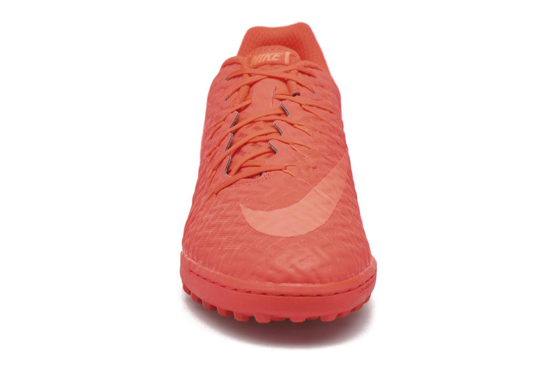 Chaussures de sport Nike Hypervenomx finale tf Orange vue portées chaussures