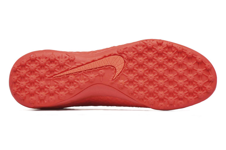 Chaussures de sport Nike Hypervenomx finale tf Orange vue haut