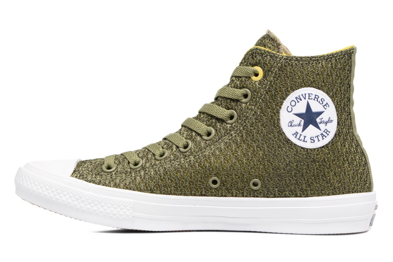 Sneaker Converse Chuck Taylor All Star II Hi M grün ansicht von vorne
