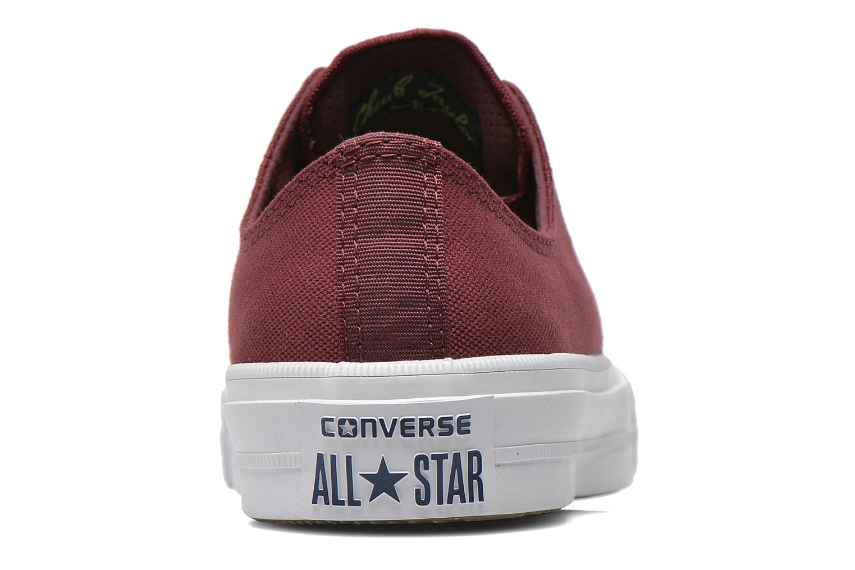 Sneakers Converse Chuck Taylor All Star II Ox M Vinröd Bild från höger sidan