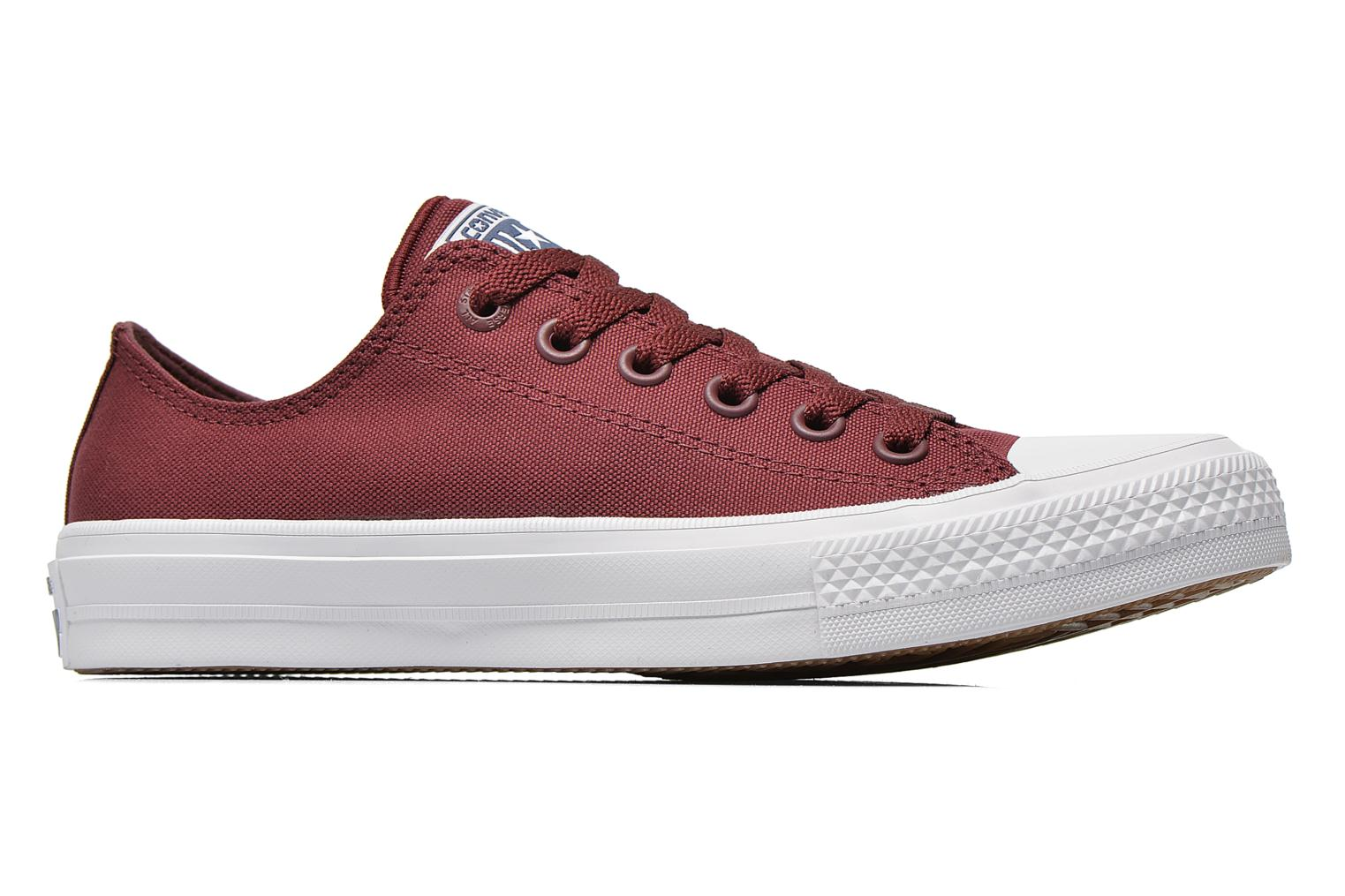 Baskets Converse Chuck Taylor All Star II Ox M Bordeaux vue derrière