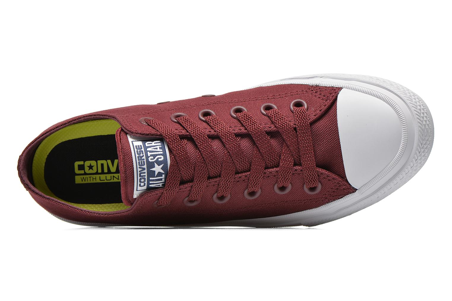 Baskets Converse Chuck Taylor All Star II Ox M Bordeaux vue gauche