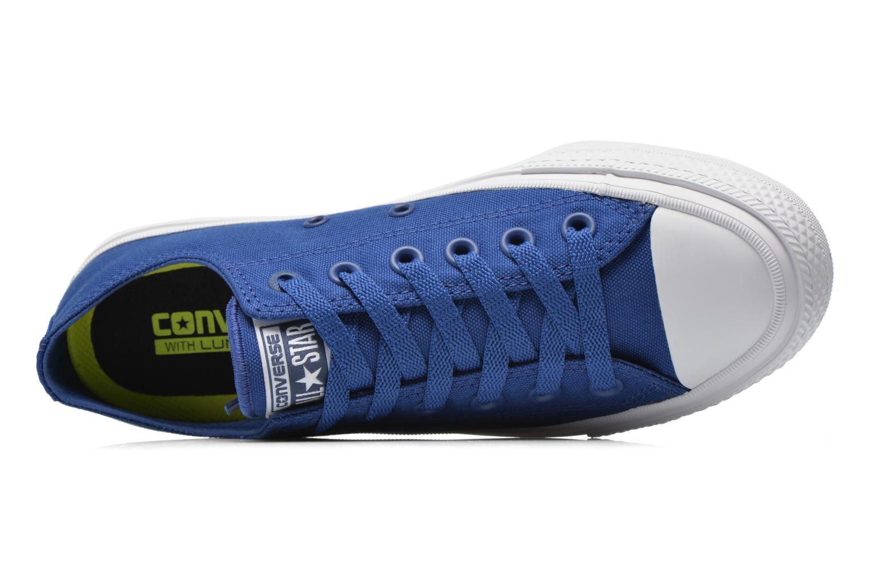 Sneaker Converse Chuck Taylor All Star II Ox M blau ansicht von links