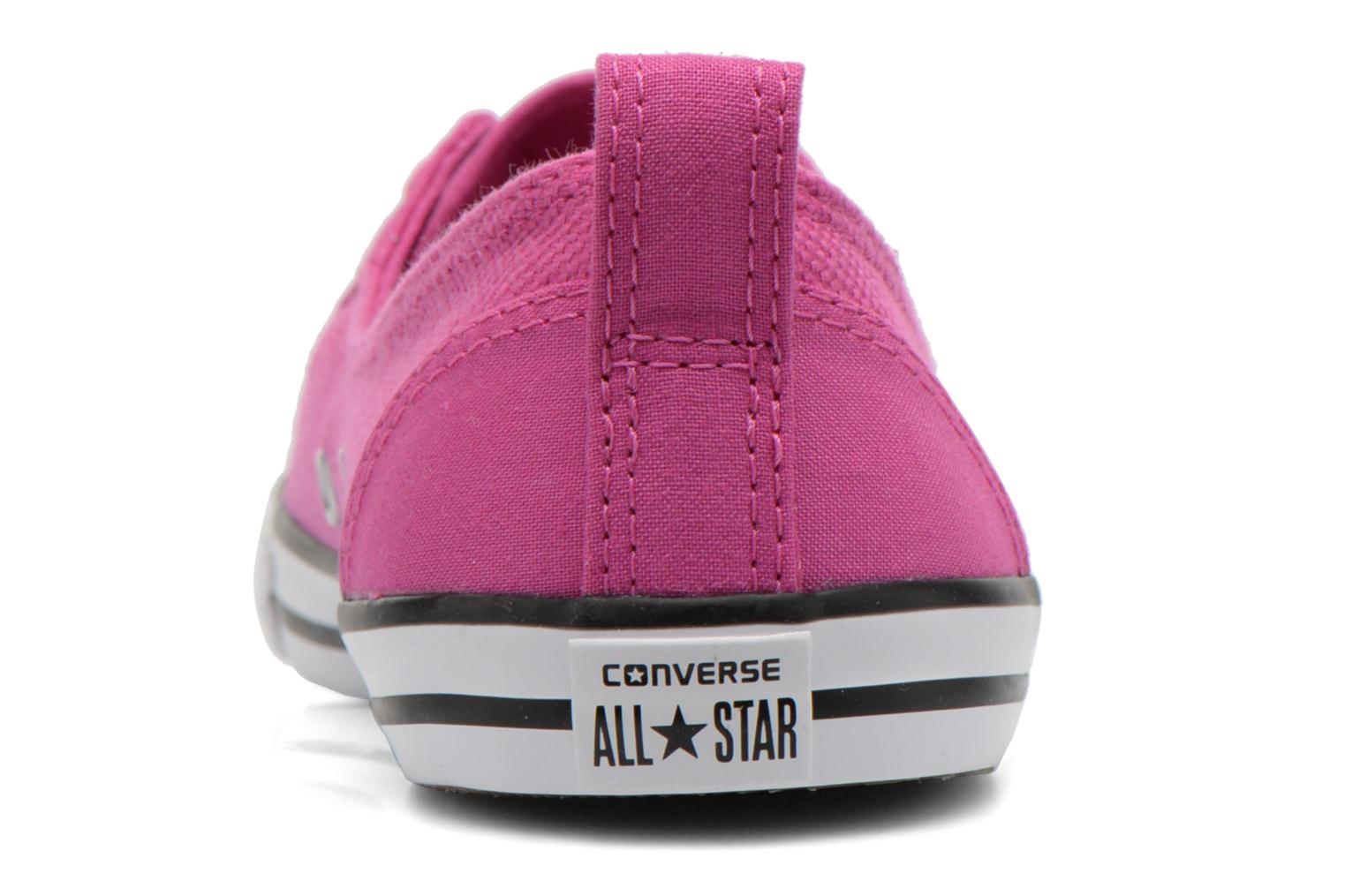 Trainers Converse Chuck Taylor All Star Ballet Lace Pink view from the right