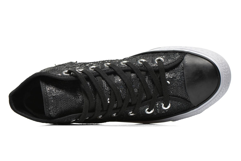 Baskets Converse Chuck Taylor All Star Distressed Sequin Noir vue gauche