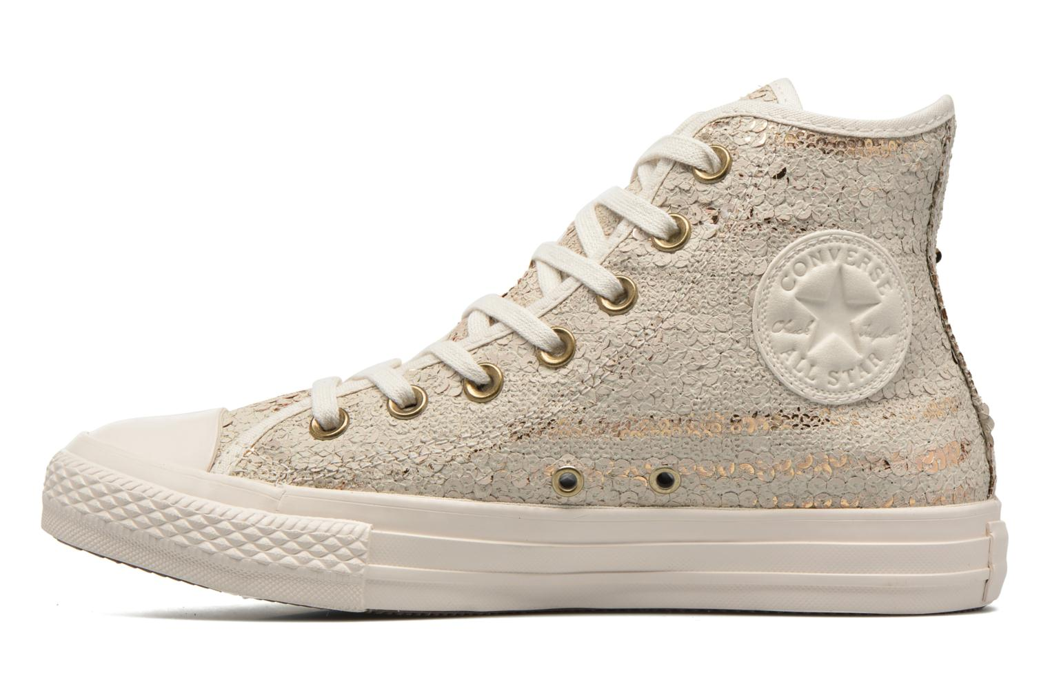 Baskets Converse Chuck Taylor All Star Distressed Sequin Beige vue face