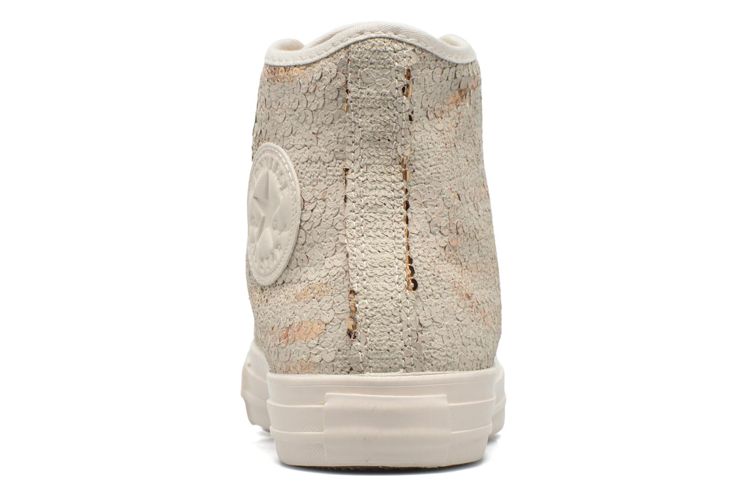 Baskets Converse Chuck Taylor All Star Distressed Sequin Beige vue droite