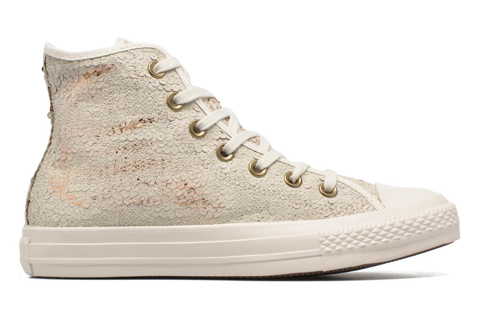 Trainers Converse Chuck Taylor All Star Distressed Sequin Beige back view