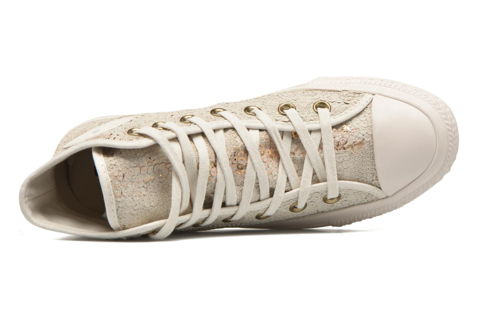 Trainers Converse Chuck Taylor All Star Distressed Sequin Beige view from the left