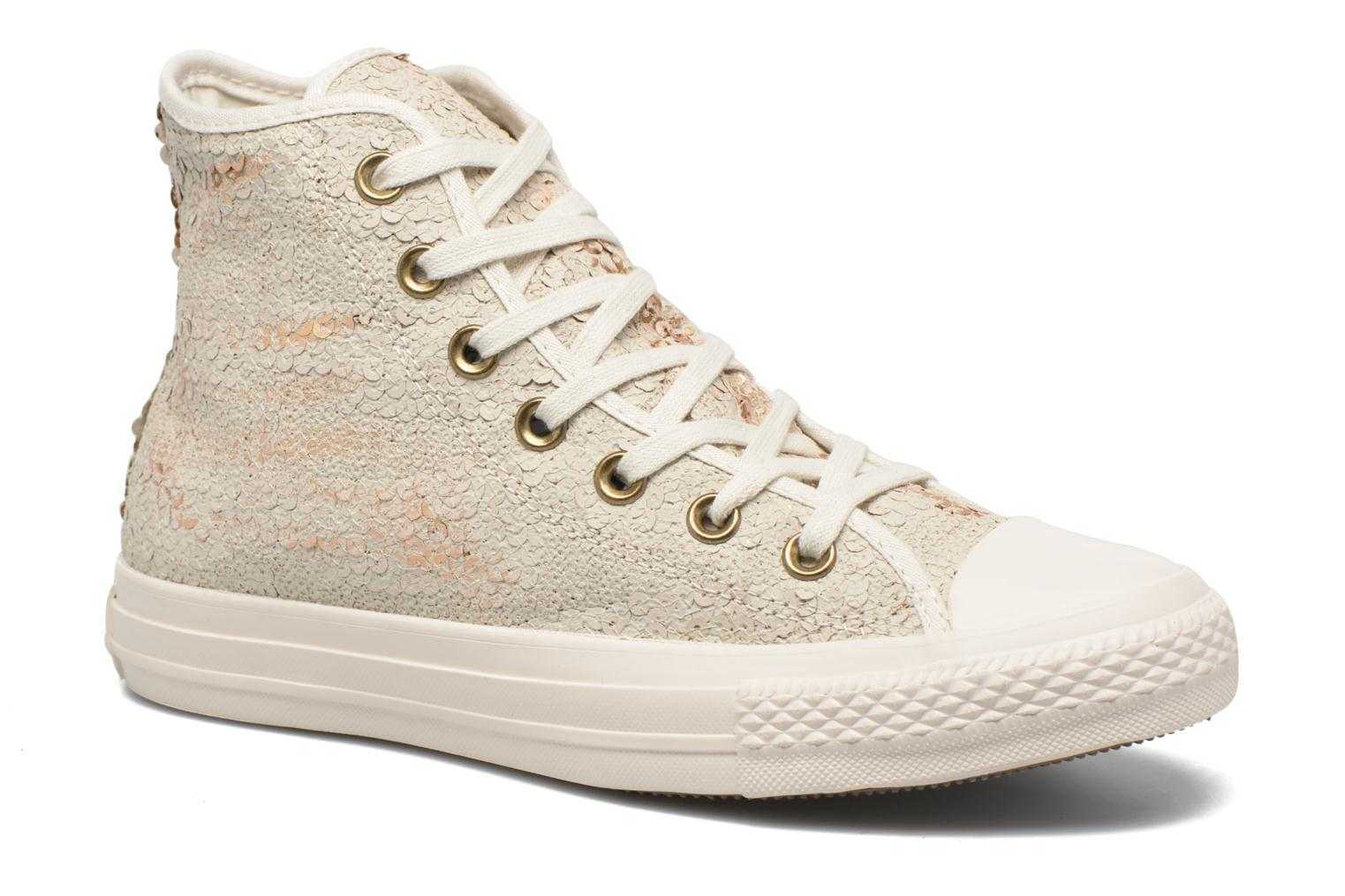 Trainers Converse Chuck Taylor All Star Distressed Sequin Beige detailed view/ Pair view