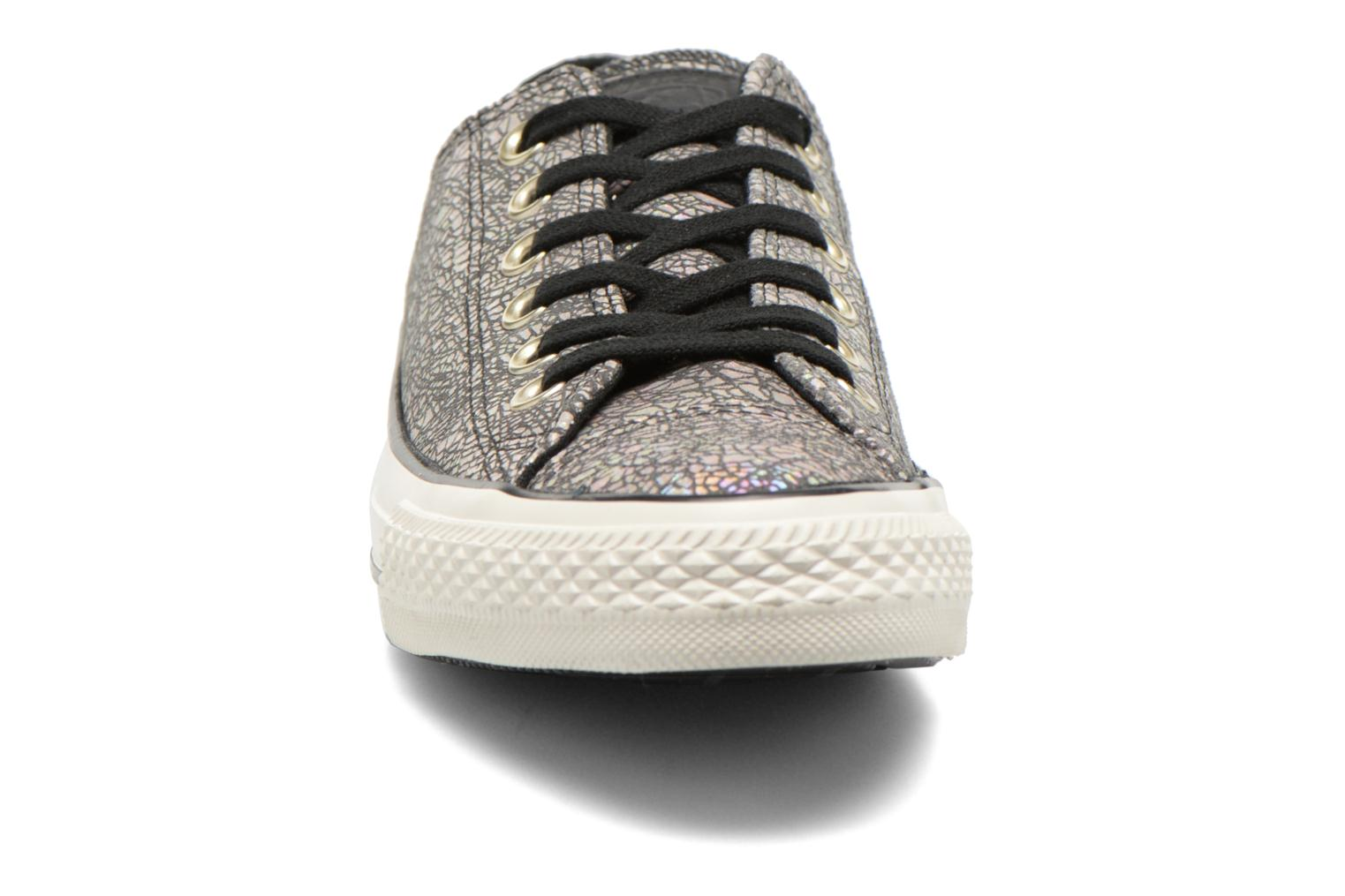 Baskets Converse Chuck Taylor All Star Ox Oil Slick Leather W Argent vue portées chaussures